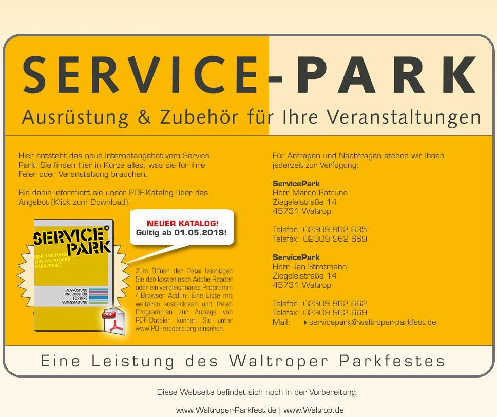 Waltroper Servicepark - Ausrüstung und Zubehör für Ihre